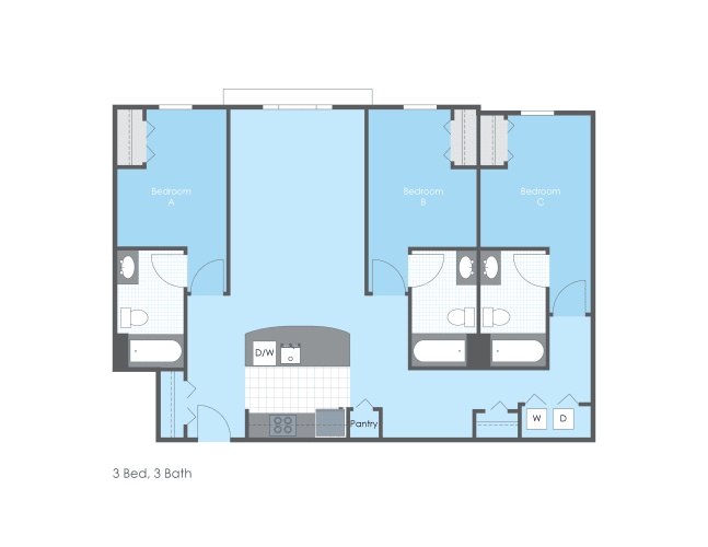 Floor Plan  3 Bed 3 Bath