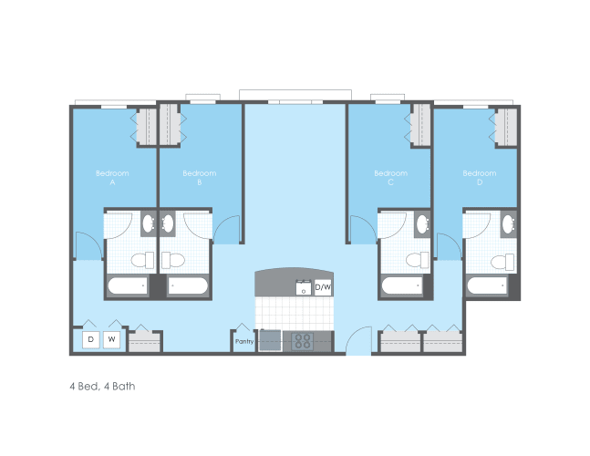 Floor Plan  4 Bed 4 Bath
