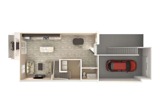 Floor Plan  Chateau 3 bedroom 2 bathroom At Bella Victoria Apartments In Mesa, AZ, opens a dialog.