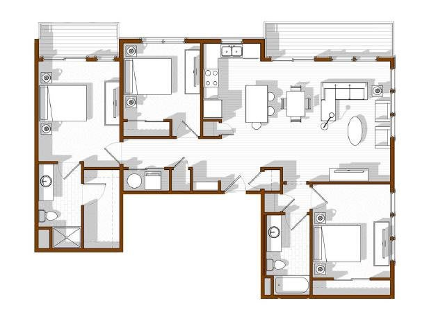 Floor Plan  North Main at Steel Ranch l 3 Bed Apartments in Louisville CO, opens a dialog.