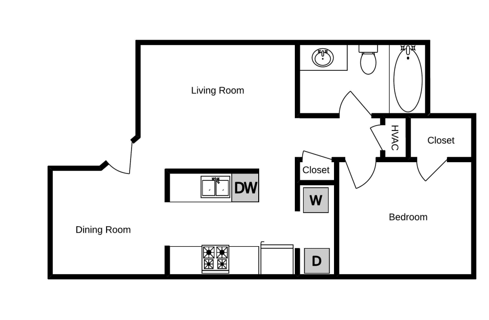 Edgewood at The Gables one bedroom