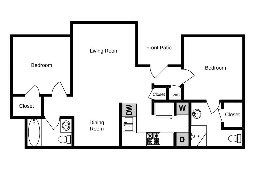 Edgewood at The Gables two bedroom