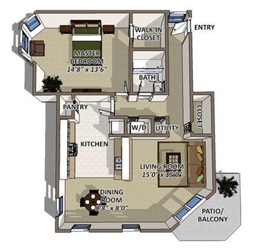 South Hampton floor plan at The Villages of Banyan Grove Apartments in Boynton Beach