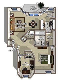 Bimini floor plan at The Villages of Banyan Grove Apartments in Boynton Beach
