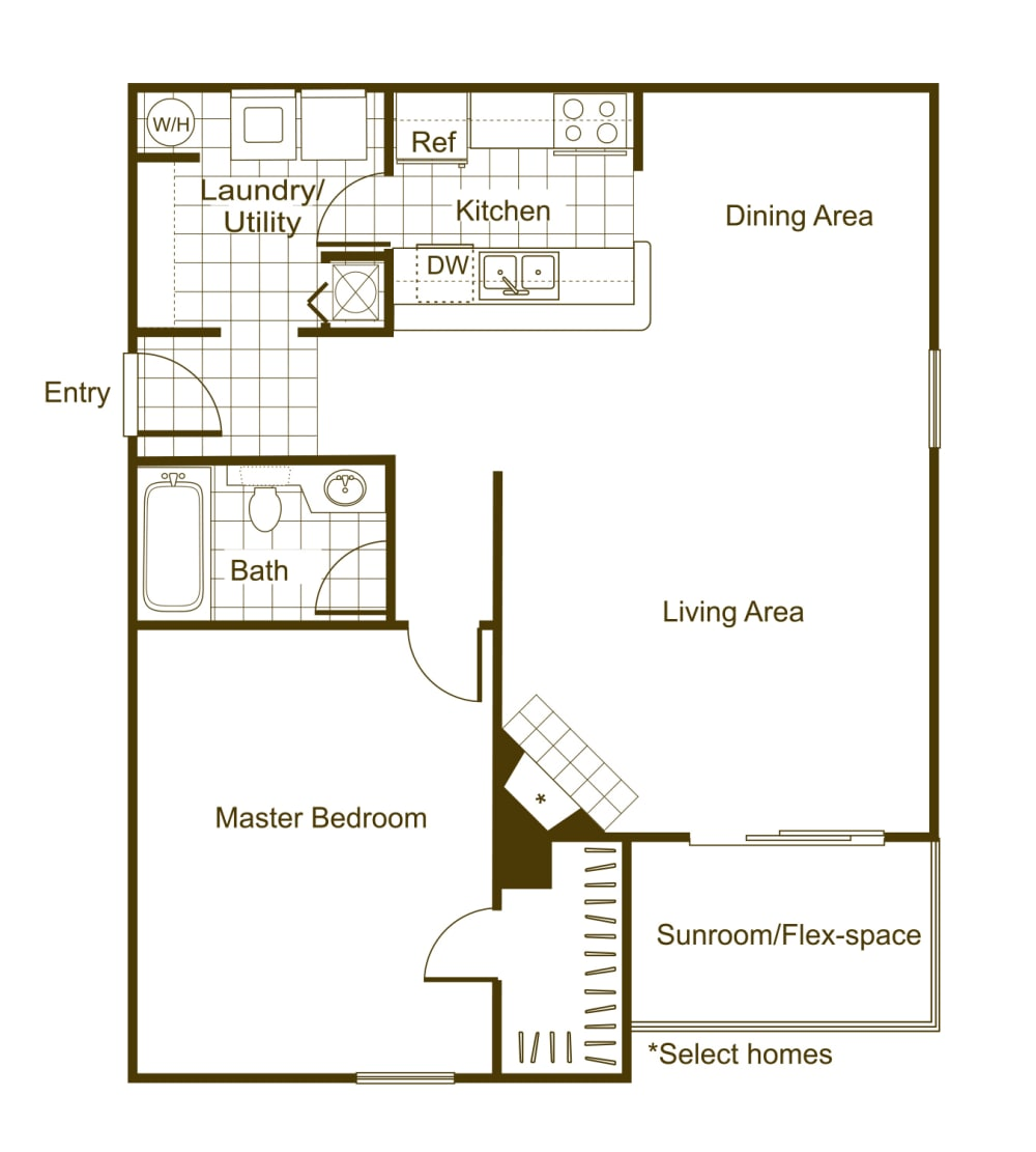 Willow 1Bed_1Bath at The Timbers, Richmond, Virginia