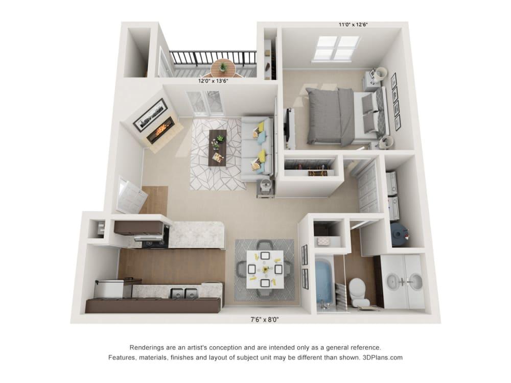 Dogwood 1Bed_1Bath at River Oak Apartments, Louisville, KY, 40206