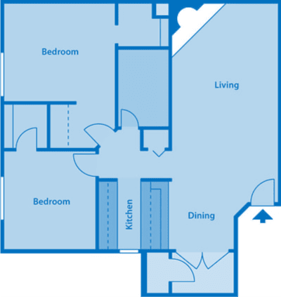 The Arboretum 2A Floor Plan Image depicting layout of home.