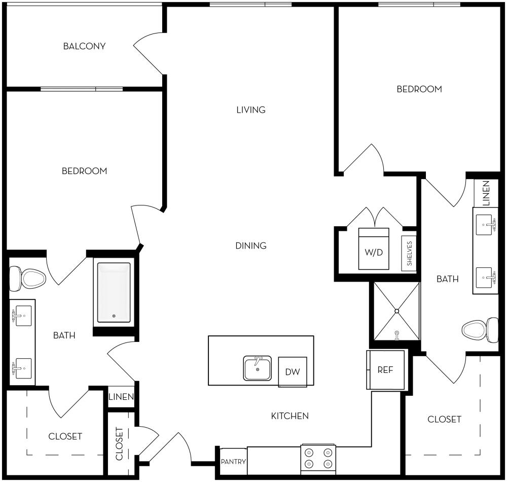 2B-1 Floor Plan