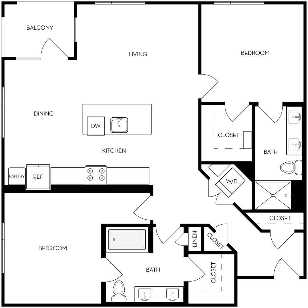 2B -3 Floor Plan