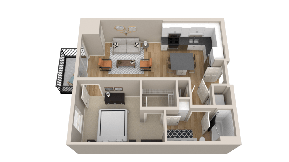 Vintage on Selby Apartments 1 Bedroom Apartment Layout