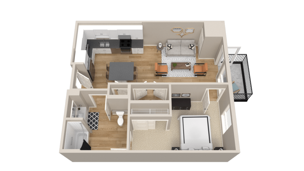 1 Bedroom Apartment Floor Plan Vintage on Selby Apartments