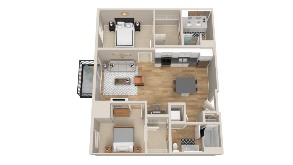 Vintage on Selby Apartments 2 Bedroom Apartment Layout