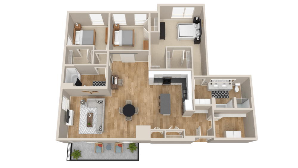 Vintage on Selby Apartments 3 Bedroom Apartment Layout