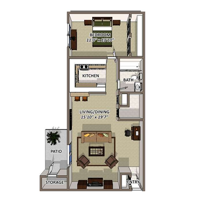 The Sands Floor Plan at Lakecrest, Greenville, SC