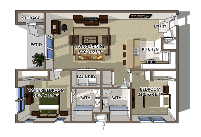 The Crest Floor Plan at Lakecrest, South Carolina