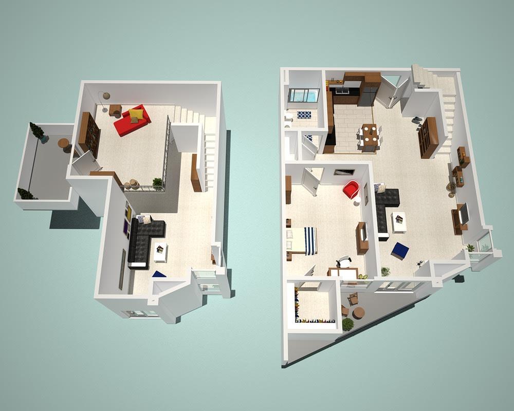 1 Bed - 1 Bath J1 - Penthouse Floor Plan at The Social, California, 91601