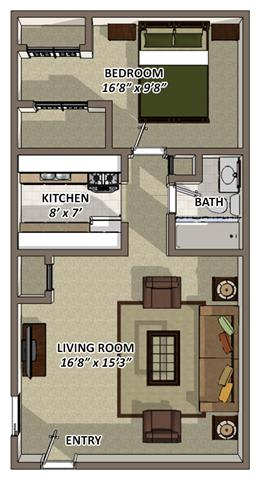 The Ranch floor plan at Hyde Park Apartments in Chester VA