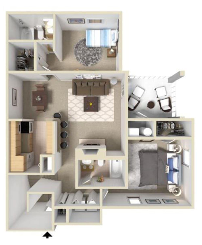 Fairmont II Floor Plan at Ashton Creek Apartments in Chester VA