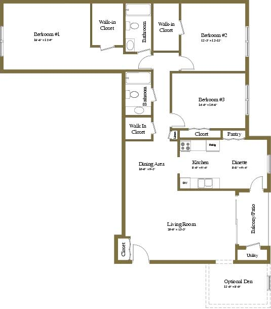 3 Bedroom Apartment in Towson, Maryland