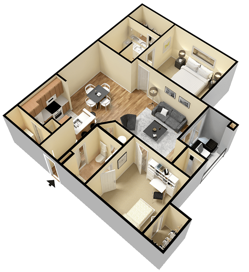 Rapallo Apartments Milano B floor plan
