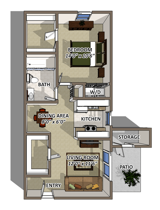 The Brookstone Floorplan at Reserve At Barry