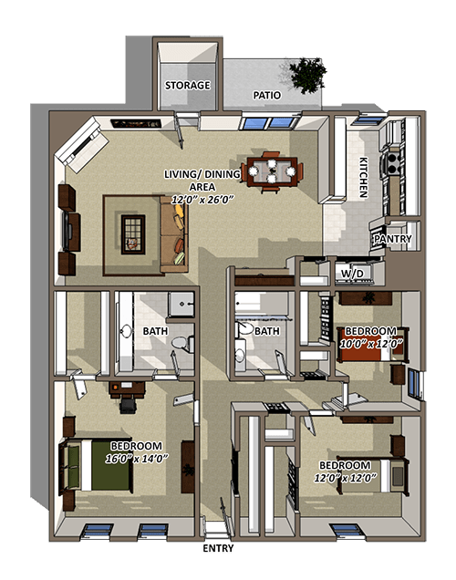 The Cascade Floorplan at Reserve At Barry