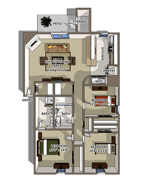 The Riverton Floorplan at Reserve At Barry