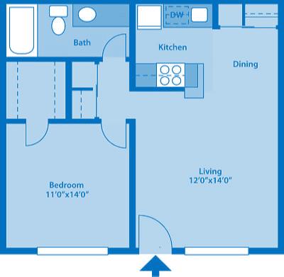 The Springs 1 Bedroom Floor Plan The Cove