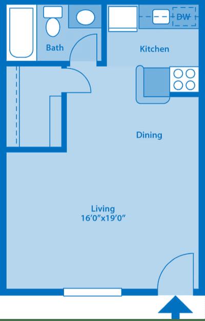 The Springs Studio Floor Plan