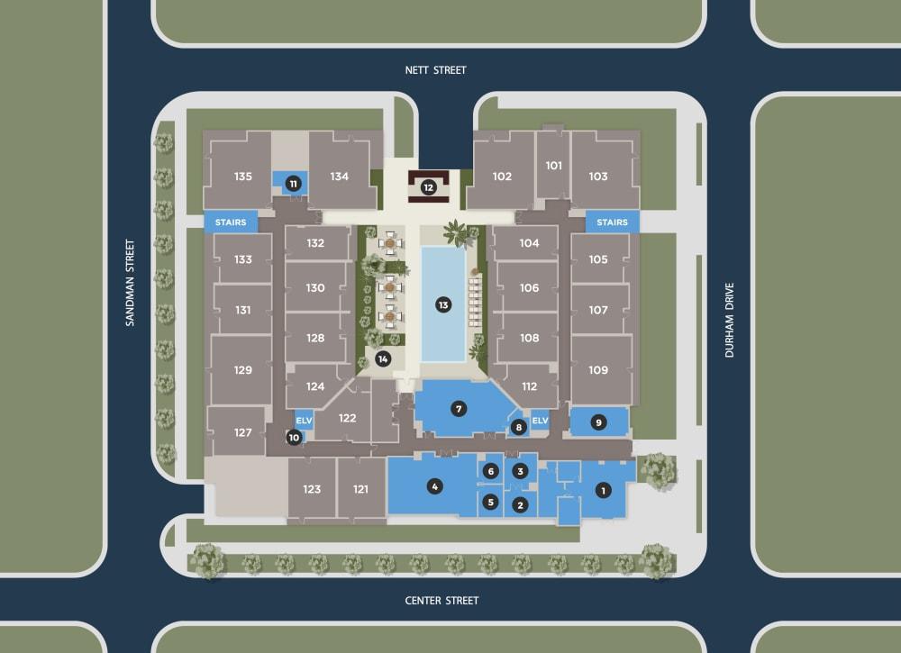 Midnight Floor Plan at Azure Houston Apartments, Houston