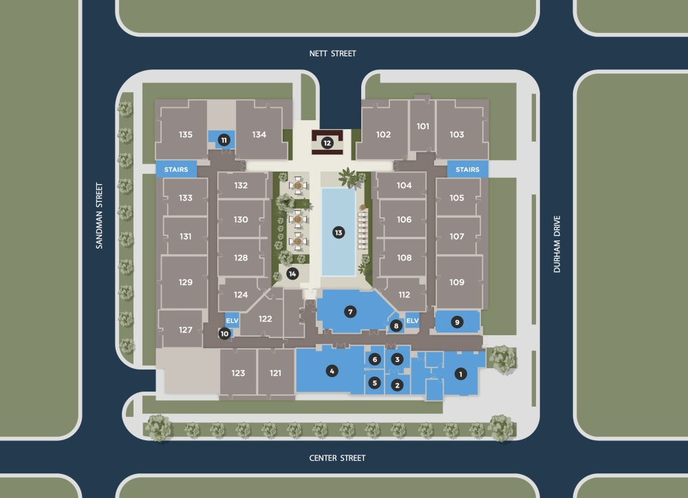 Sapphire Floor Plan at Azure Houston Apartments, Houston, TX, 77007