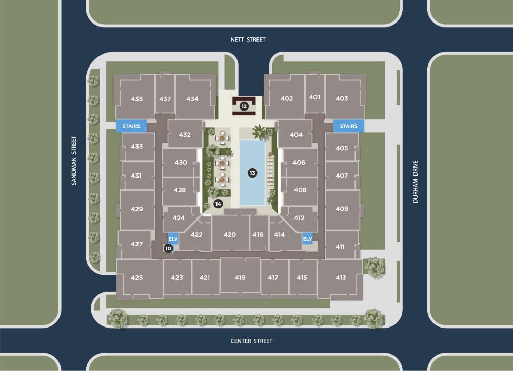 Cerulean Floor Plan at Azure Houston Apartments, Houston, 77007