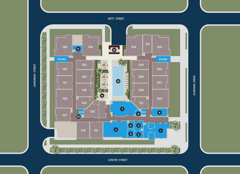 Slate Floor Plan at Azure Houston Apartments, Houston, TX