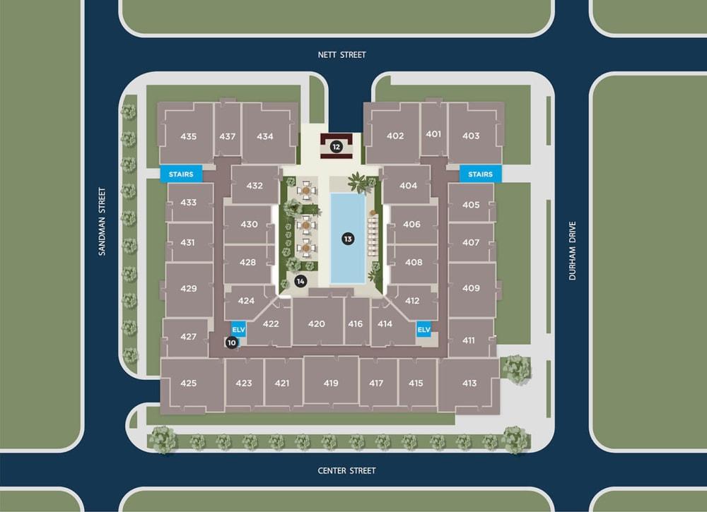 Cobalt Floor Plan at Azure Houston Apartments, Houston, TX, 77007