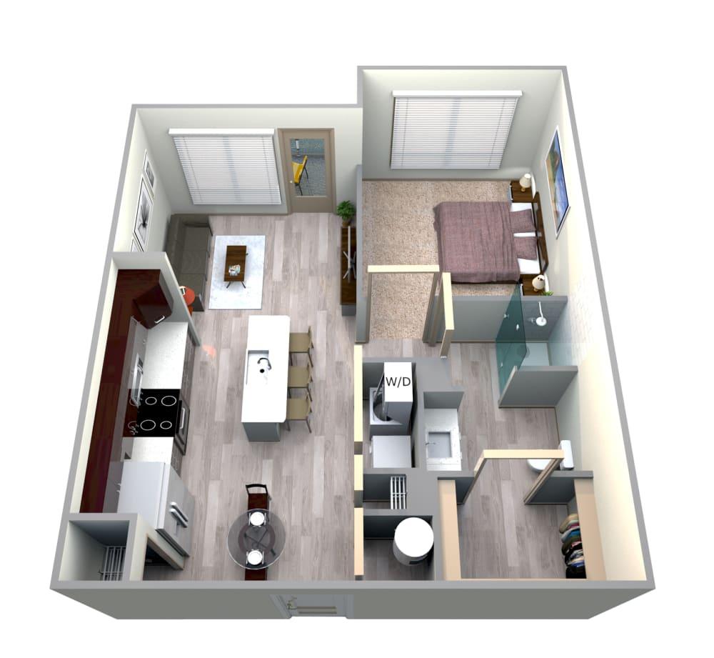 Azul Floor Plan at Azure Houston Apartments, Houston, 77007