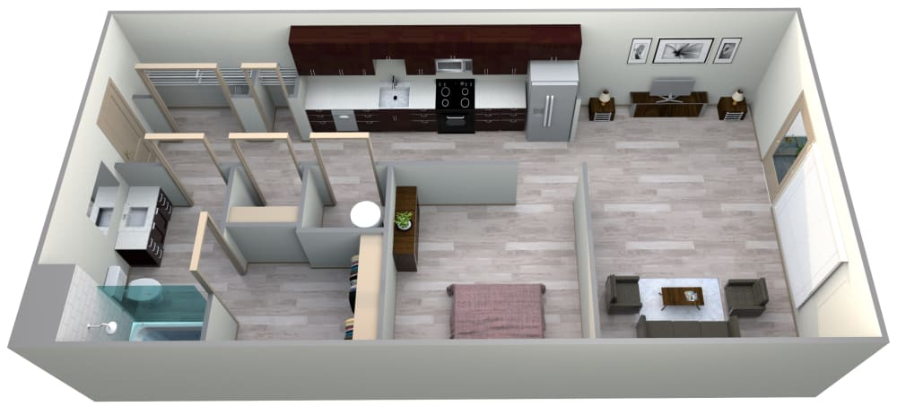 Cerulean Floor Plan at Azure Houston Apartments, Texas