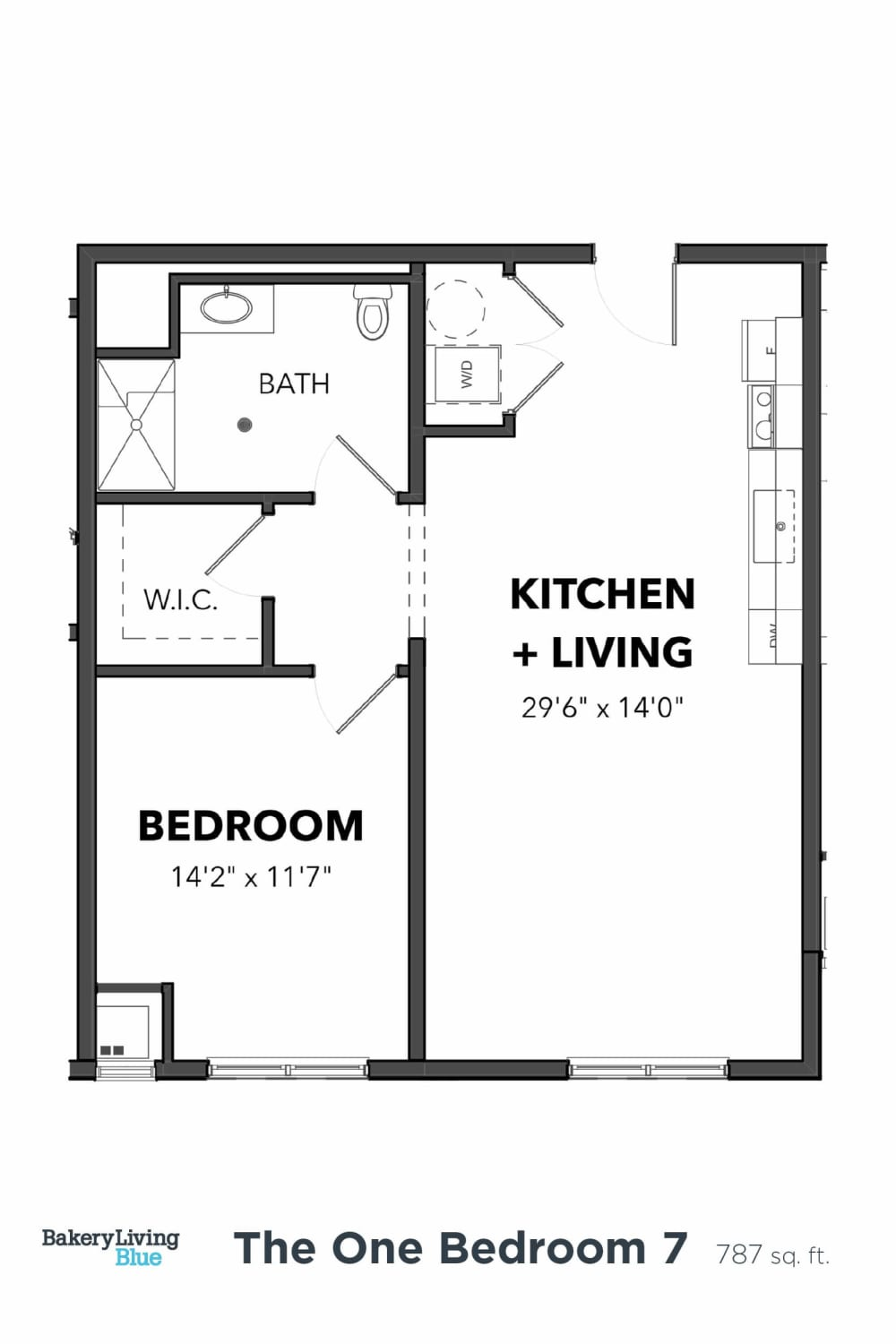 Bakery Living One Bedroom 7, apartments in Pittsburgh, Pennsylvania 15206
