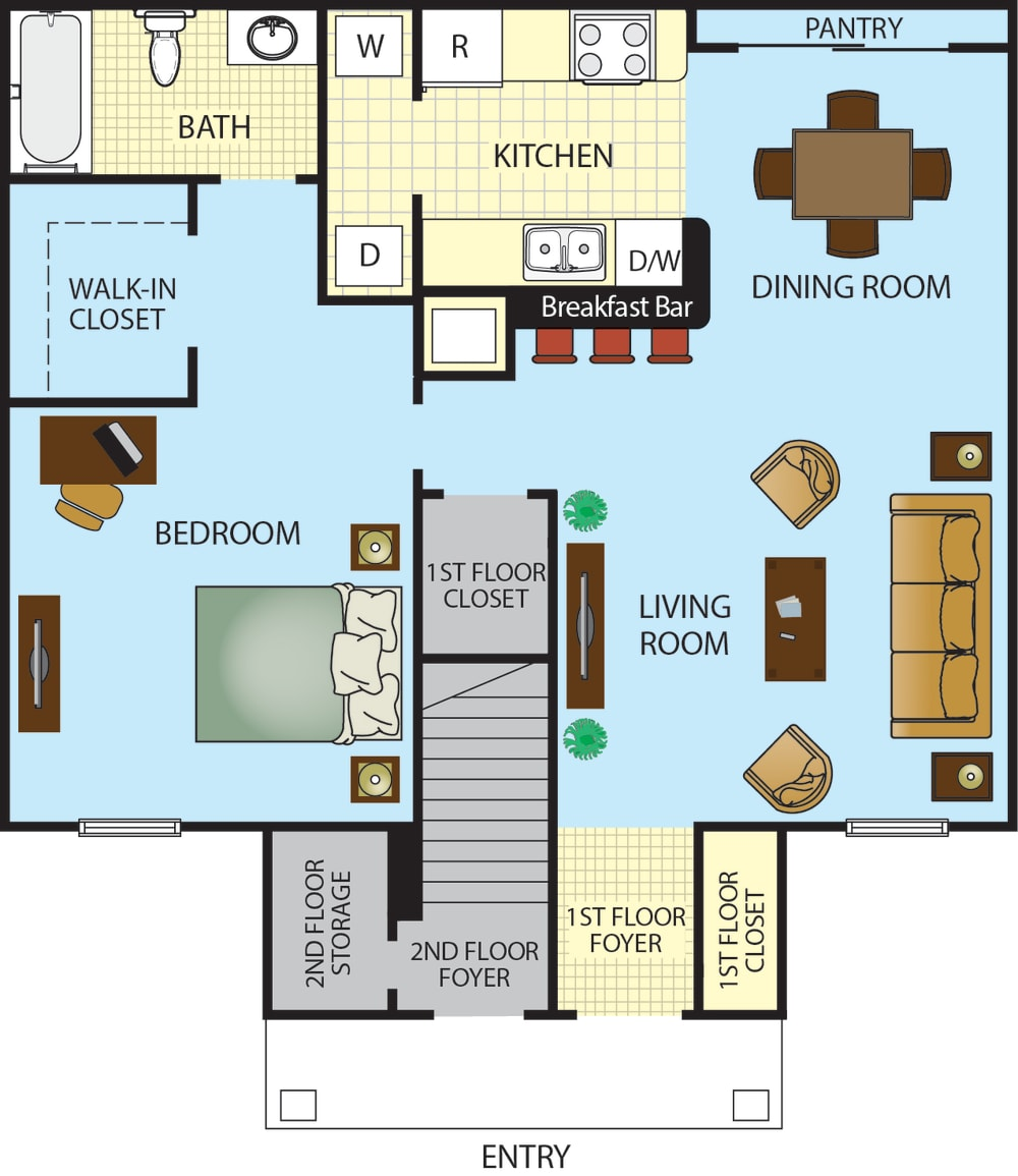 Ponce Harbor One Bedroom One Bath Apartment Home