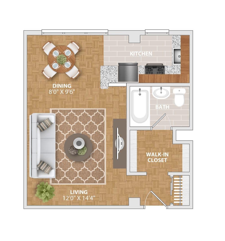 The Manor floorplan at Bridgeyard Old Town