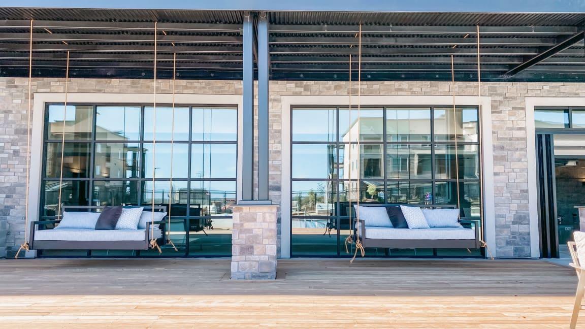 Swings in Lounge area at Soleil LoftsApartments, Herriman, UT