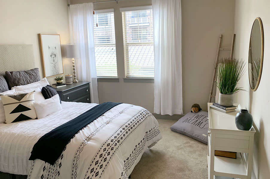 Beautiful Bright Bedroom With Wide Windows at San Marino Apartments, South Jordan, UT