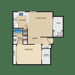 Rialto 1 Bedroom Apartment for Rent Granite at Tuscany Hills San Antonio