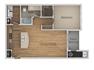 A1 1Bed_1Bath at Avena Apartments, Colorado, 80233