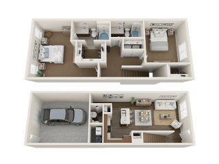 2 BEDROOM TOWNHOME Floor Plan at Foothill Lofts Apartments & Townhomes, Logan, 84341