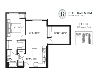 Echo Floor Plan at The Barnum, Minnesota