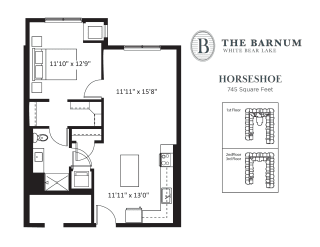 Horseshoe Floor Plan at The Barnum, White Bear Lake, MN