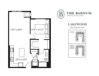 Lakewood Floor Plan at The Barnum, White Bear Lake
