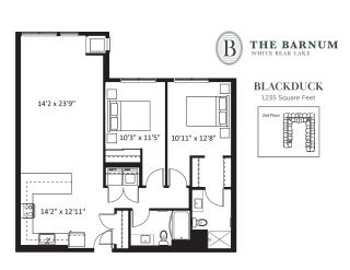Blackduck Floor Plan at The Barnum, White Bear Lake, 55110