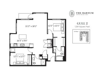 Gull Floor Plan at The Barnum, Minnesota