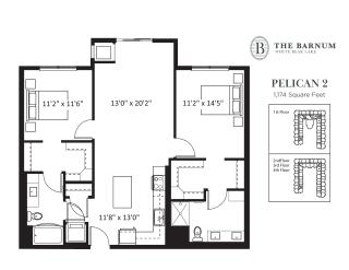 Pelican Floor Plan at The Barnum, Minnesota